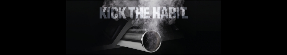 Kick the habit campaign smoking exhaust pipe image