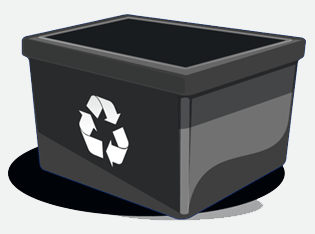 This image shows a paper recycling box