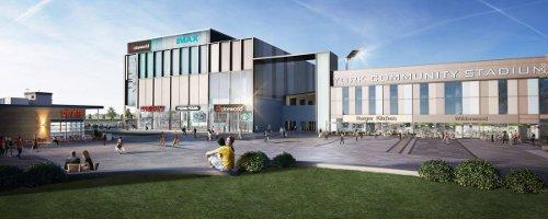 An artist's impression of the cinema at York Community Stadium.